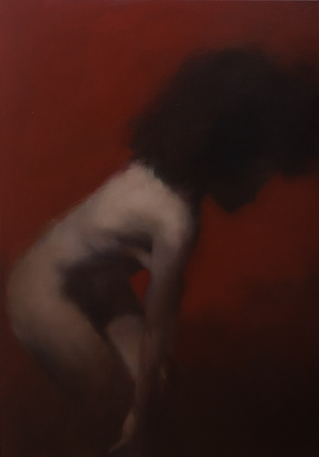 figure in red